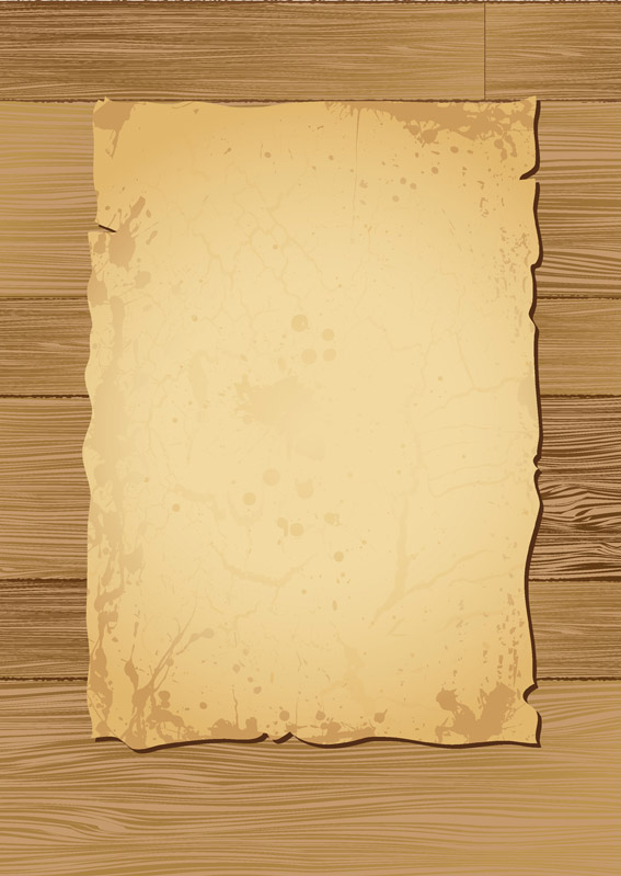 free vector Vector old paper and wood