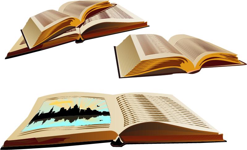 free vector Vector open book