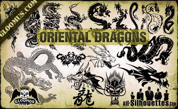 free vector Vector Oriental Dragons