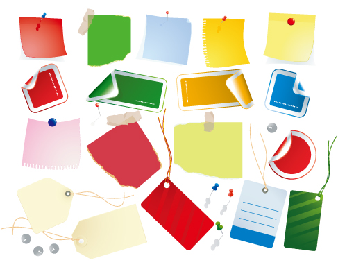 free vector Vector Papers & Stickies