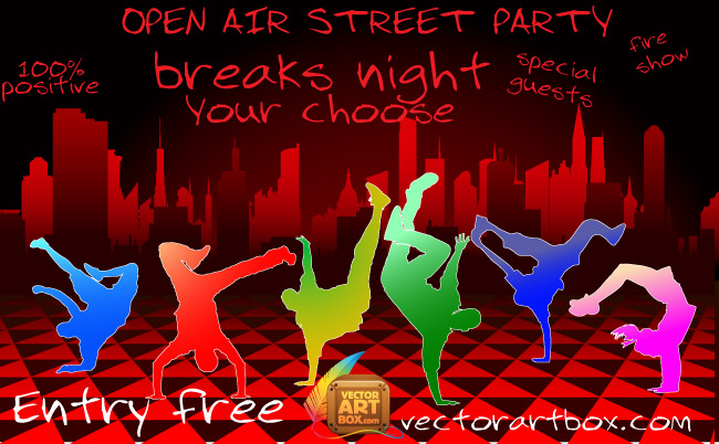 free vector Vector Party Poster