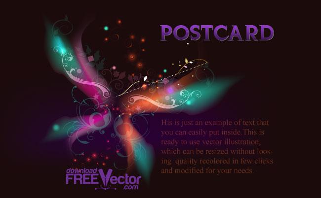 free vector Vector Postcard