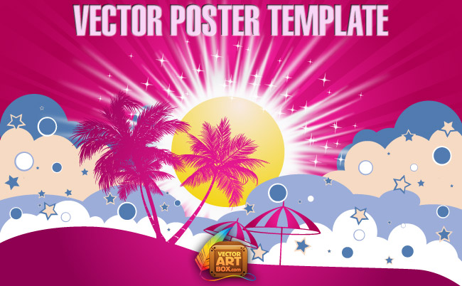 free vector Vector Poster Template
