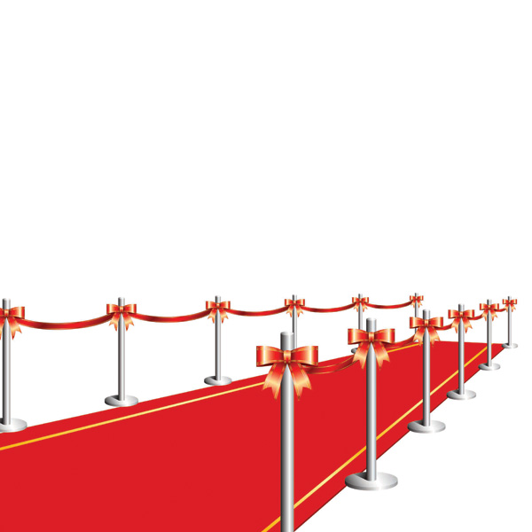 free vector Vector red carpet curtain