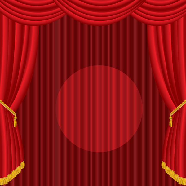 Vector red curtain Free Vector / 4Vector
