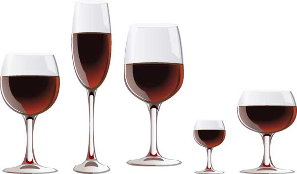 free vector Vector red wine