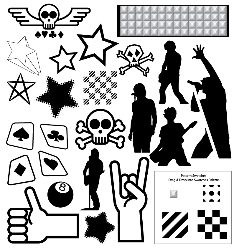 free vector  								Vector Resources Part 4 - Punk Collection