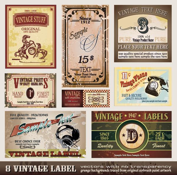 free vector Vector retro label