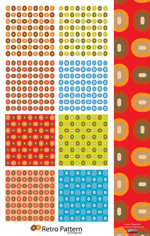 free vector Vector retro pattern