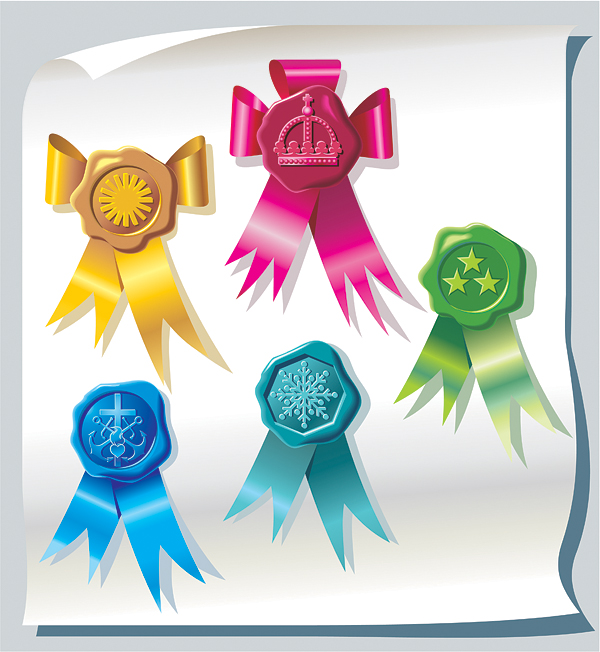 free vector Vector ribbon badges