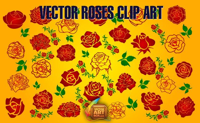 free vector Vector Roses Clip Art