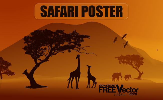 free vector Vector Safari Poster