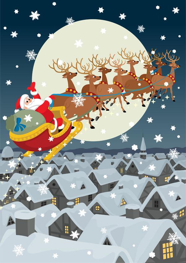 free vector Vector santa claus gifts 5602