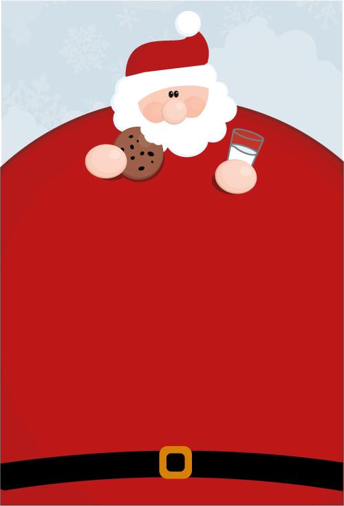 free vector vector santa claus obesity - Free Santa Claus