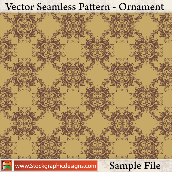 free vector Vector Seamless Pattern-Ornament