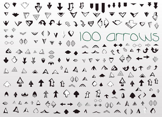 free vector Vector Set of Useful Arrows Great Collection
