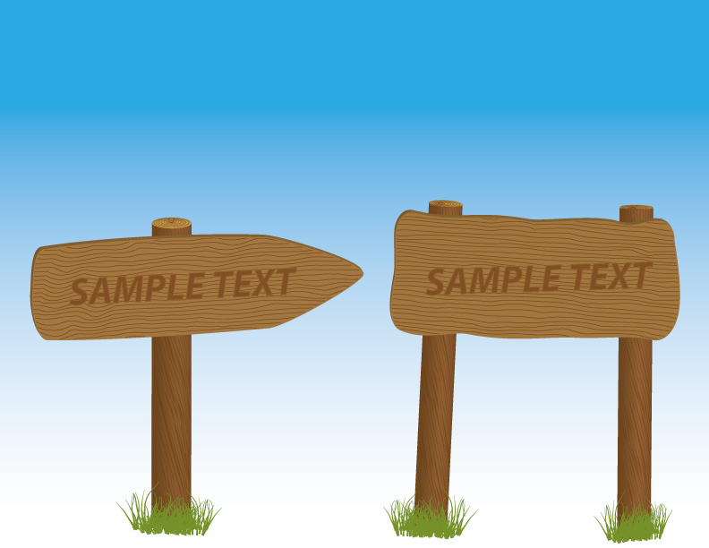 free vector Vector signs and bulletin board material