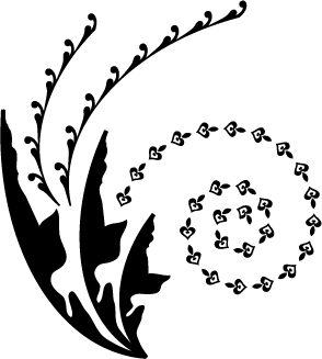 free vector Vector Silhouette Black And White Leaves Vector