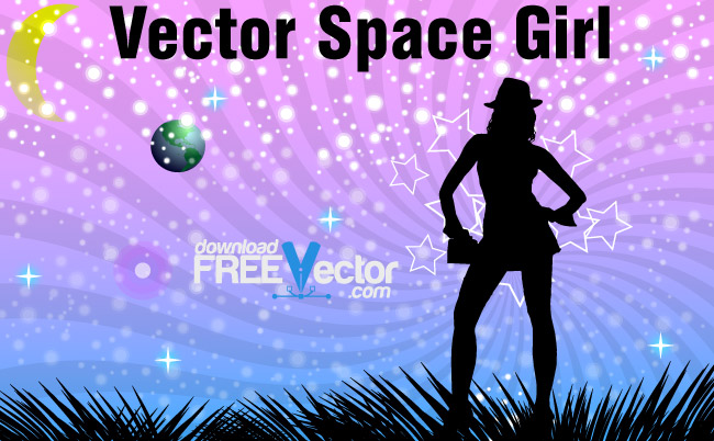 free vector Vector Space Girl