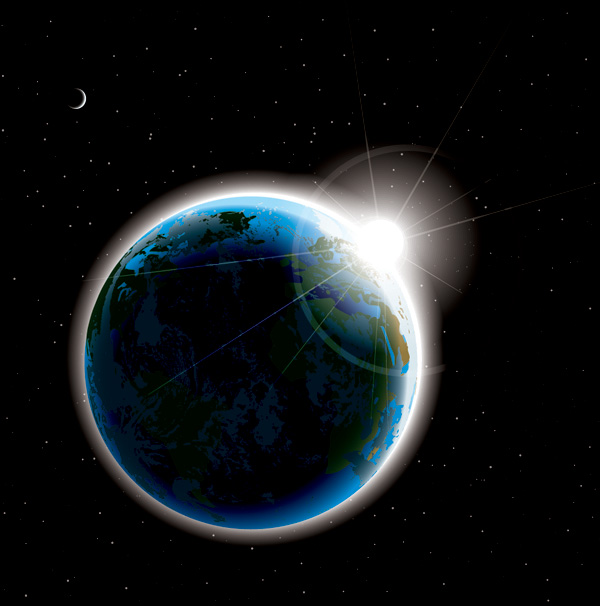 free vector Vector space planet