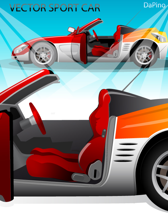 free vector Vector Sport Car
