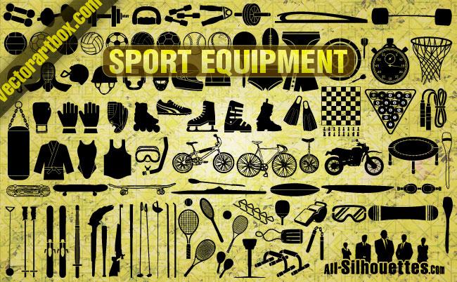 free vector Vector Sport Equipment