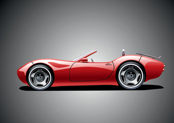 free vector Vector sports car