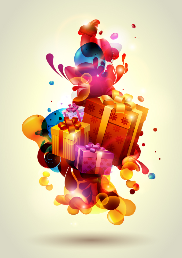 free vector Vector Stylized Gifts