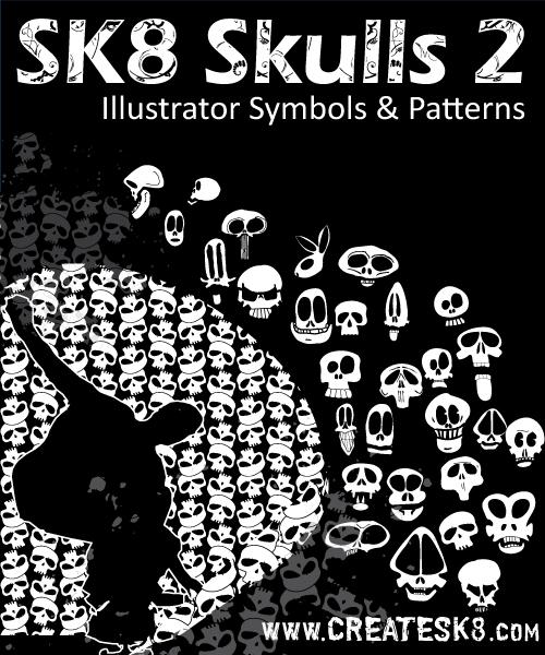 free vector Vector Stylized Skulls
