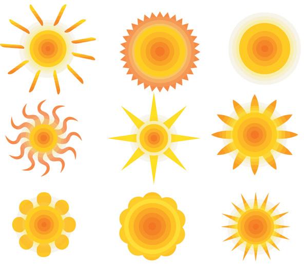 free vector Vector sun album