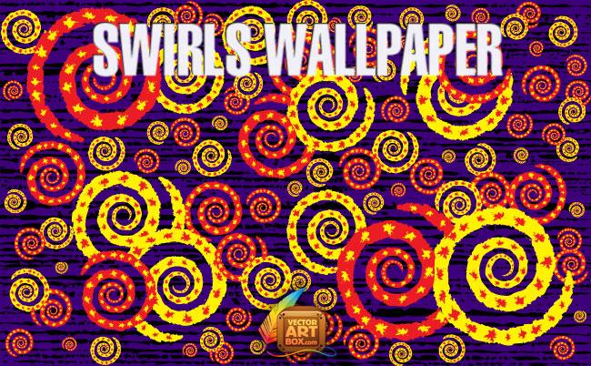 free vector Vector Swirls Wallpaper