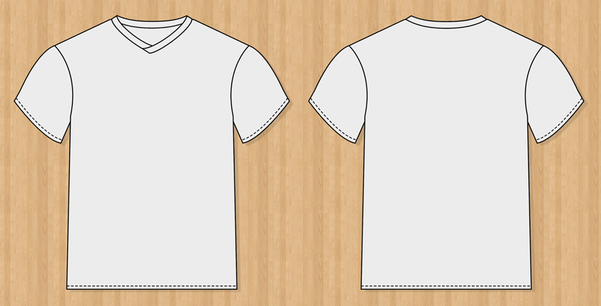 free vector Vector T-Shirt Templates