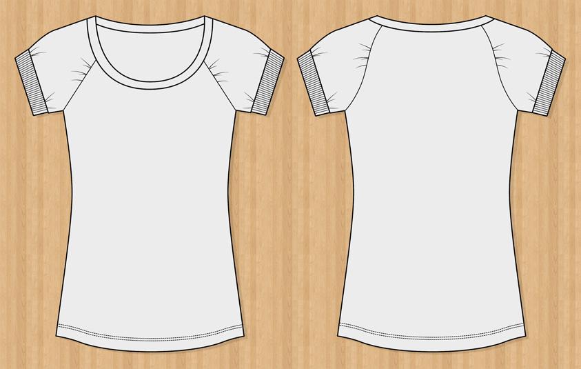 shirt template women hoodies illustrator vector and photoshop psd