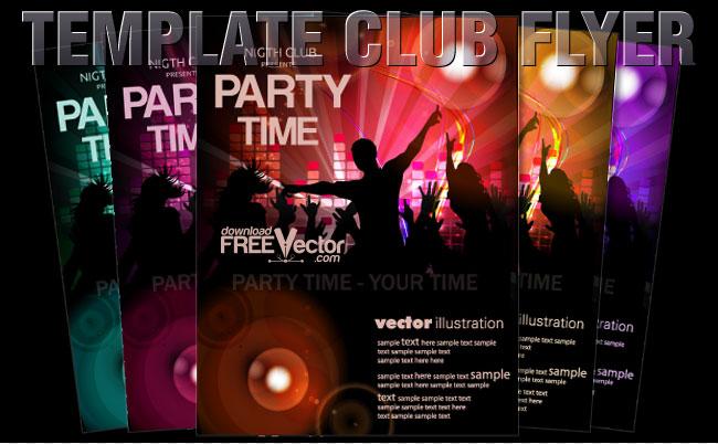 free vector Vector Template Flyer