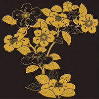 free vector Vector traditional pictorial series  4-Flower plants