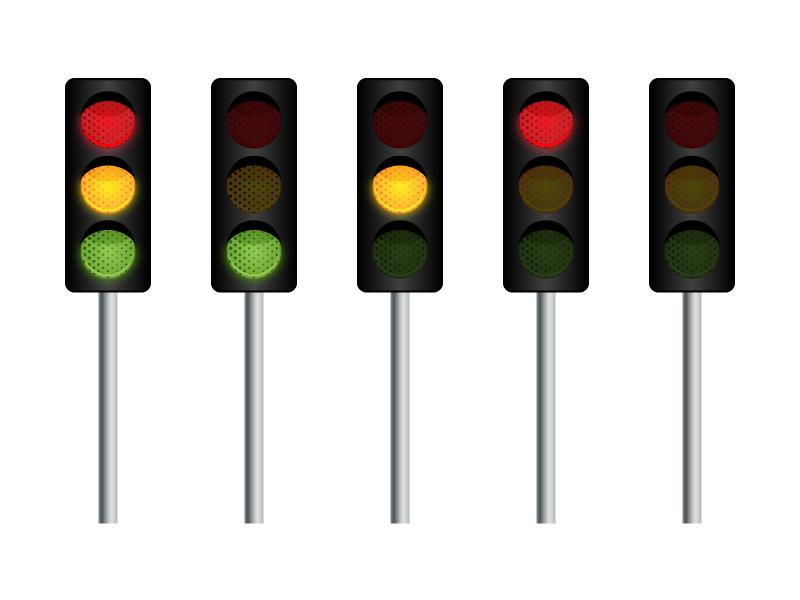 free vector Vector Traffic Light