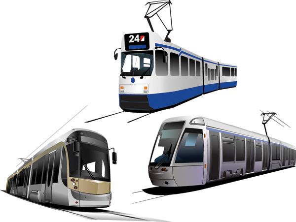 free vector Vector tram