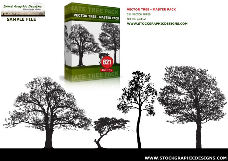 free vector VECTOR TREE - SAMPLE PACK