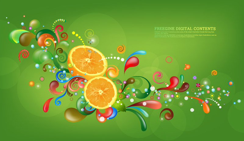 free vector Vector trend of colorful case series green 6p