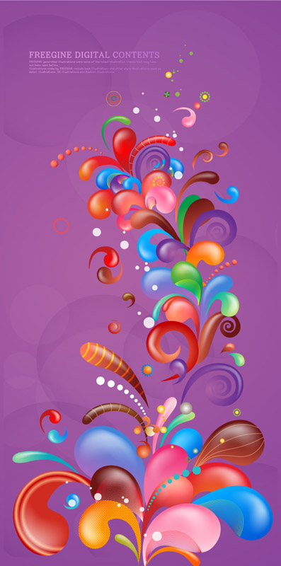 free vector Vector trend of colorful case series purple 7p