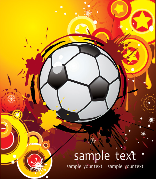 free vector Vector trend of football