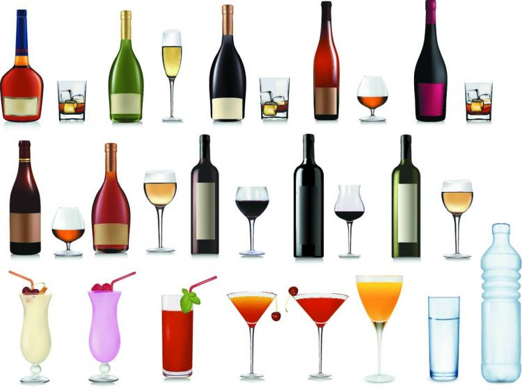 free vector Vector Various Bottles Collection