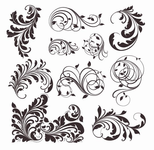 free vector Vector Vintage Patterns for Design