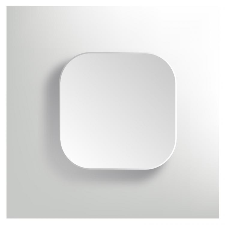 free vector Vector white blank button - app icon template