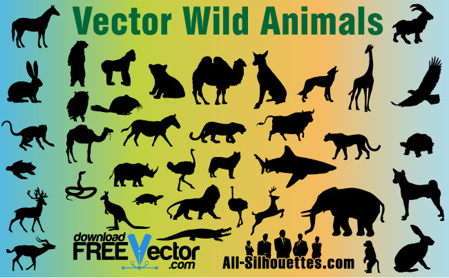 free vector Vector Wild Animals