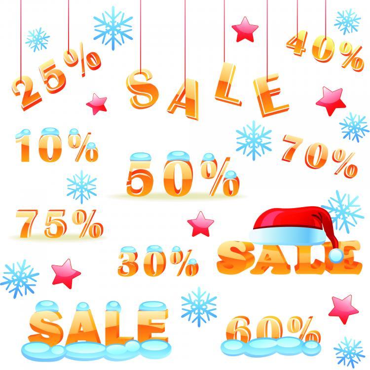 free vector Vector winter discount sales chart
