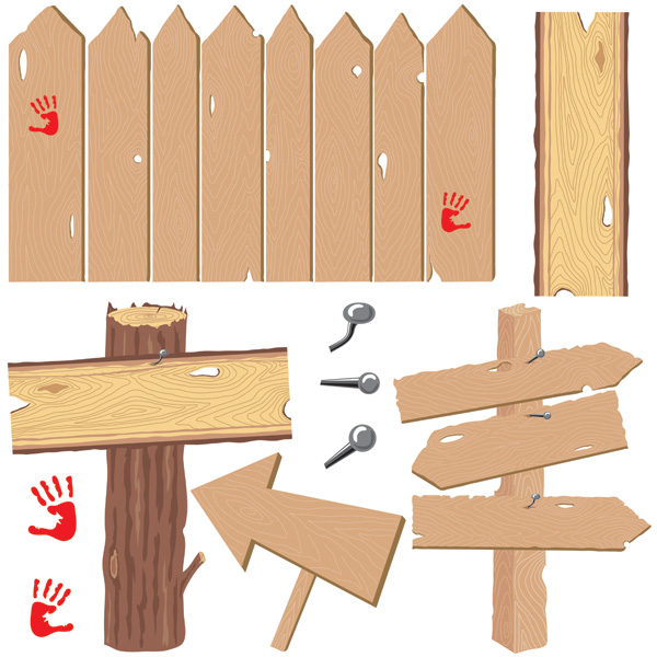 free vector Vector wood items