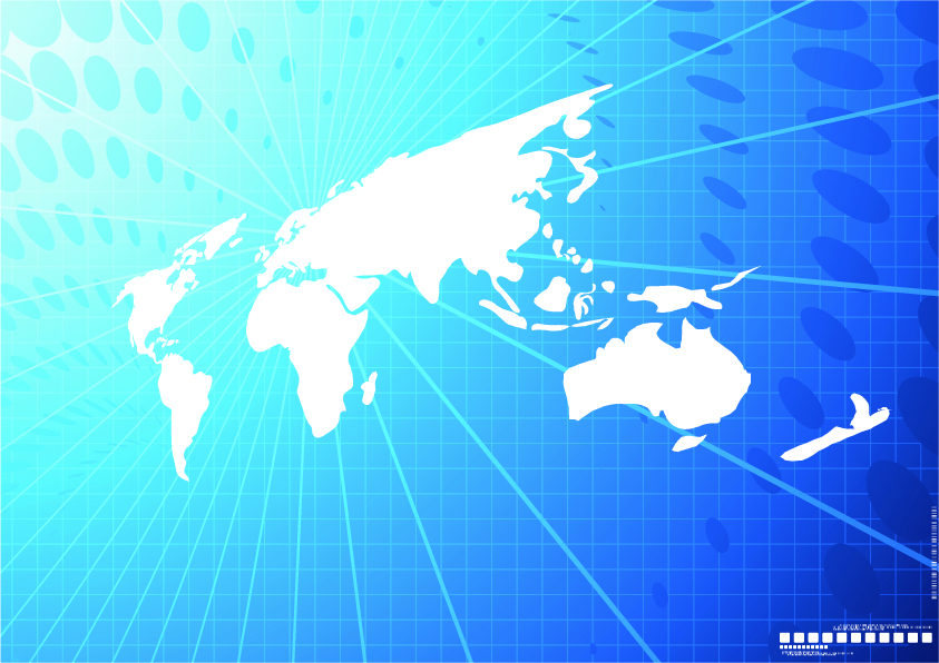 free vector Vector world map background