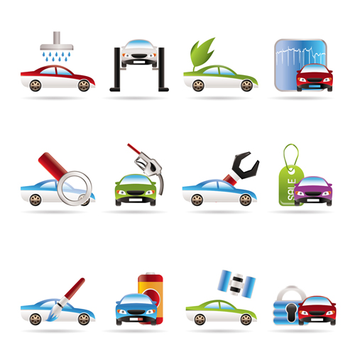 free vector Vehicle maintenance icon vector 2