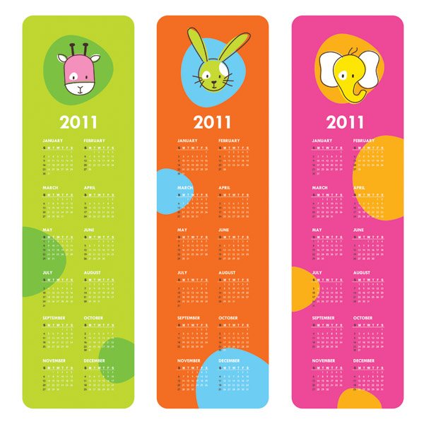 very cute clip art calendar 2011 free vector    4vector